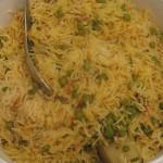 Peas pilau rice