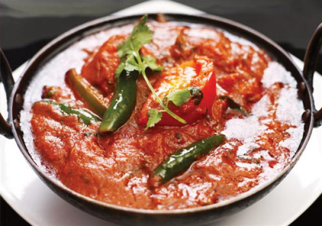 Chicken Jalfrezi (fairly hot)