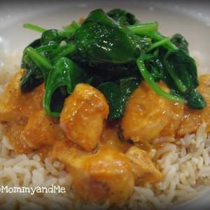 chicken tikka and spinach