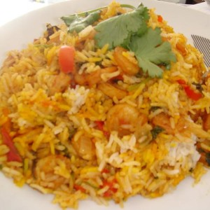 chicken tikka prawn biryani