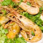 garlic and chilli king prawns