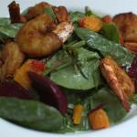 king prawn spinach